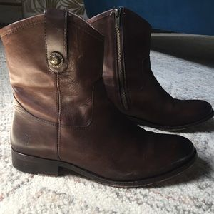 Frye Melissa Short Boots Size 8